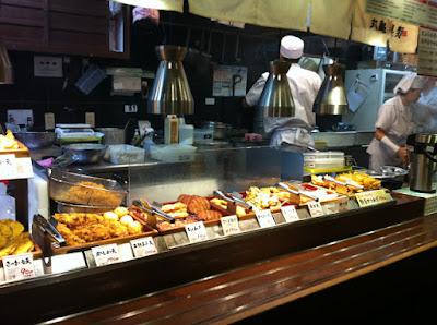 il vasto buffet di tempura