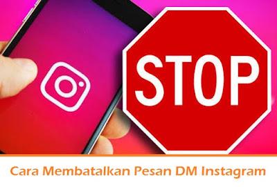 Cara Membatalkan Pesan DM Instagram (Termudah.com)
