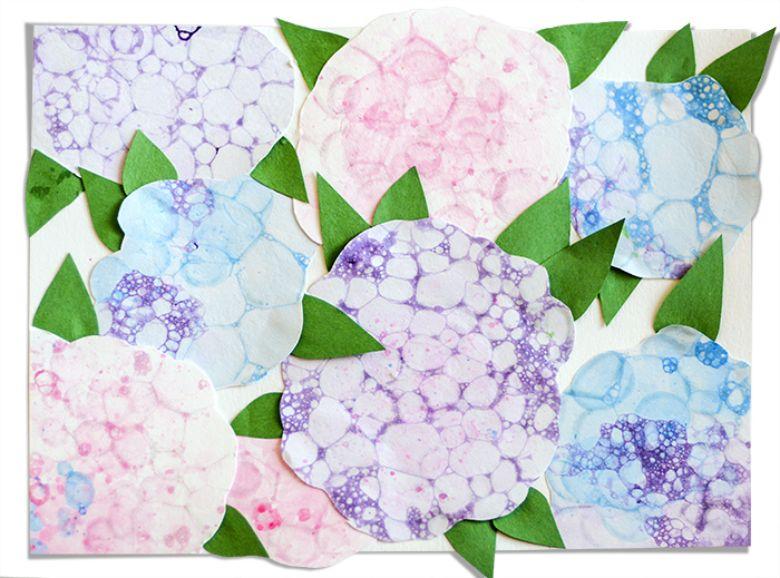 bubble paint flowers flower painting ideas