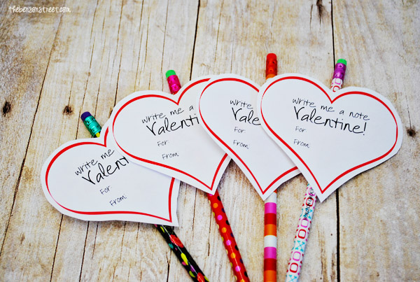 Valentines Pencils