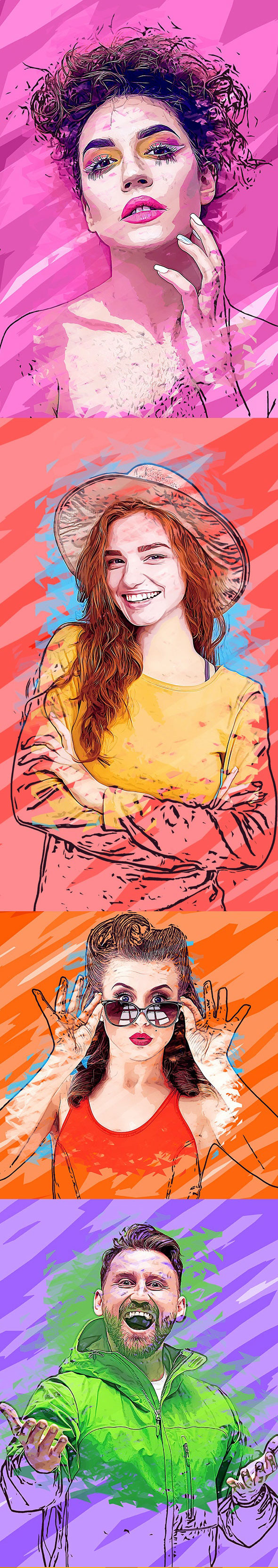 Vector Painting Effect Photoshop Action 26992554