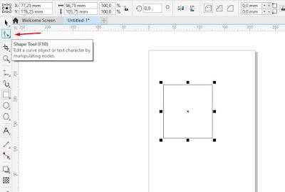 cara membuat sudut menjadi tumpul di corel draw