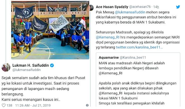 Menag Investigasi Foto Siswa MAN Kibarkan Bendera HTI