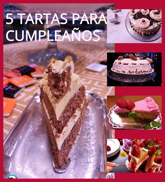 5 Tartas para cumpleaños