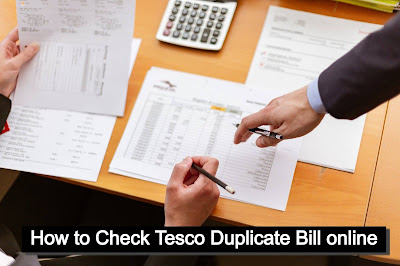 How to Check Tesco Duplicate Bill online
