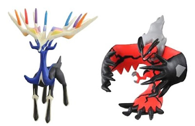 Pokemon Figure Yveltal Xerneas HP Moncolle Tom