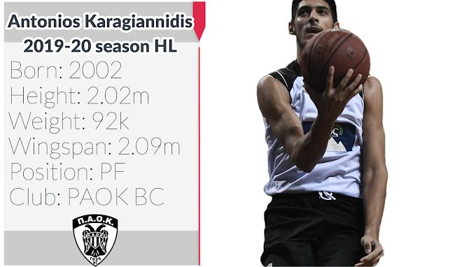Antonios Karagiannidis - Αντώνης Καραγιαννίδης Season 2019-20 Highlights