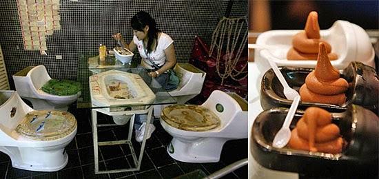 Toilet Restaurant - Restaurante banheiro - Restaurante estranho