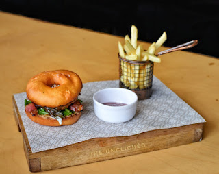 Bacon, Candied Bacon, Donut Burger