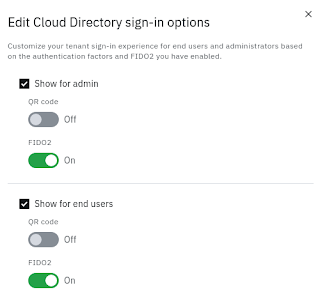 Enable FIDO2 sign-in