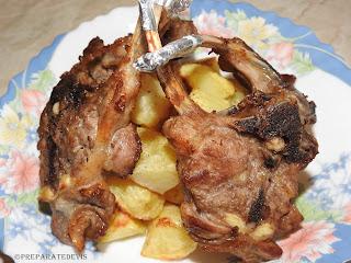 Cotlete de miel cu cartofi reteta,