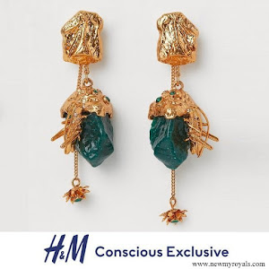 Crown Princess Victoria H&M Conscious Collection HM Multifunctional earrings