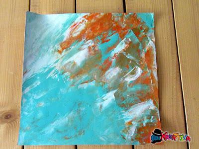 Texture con colori e spatola