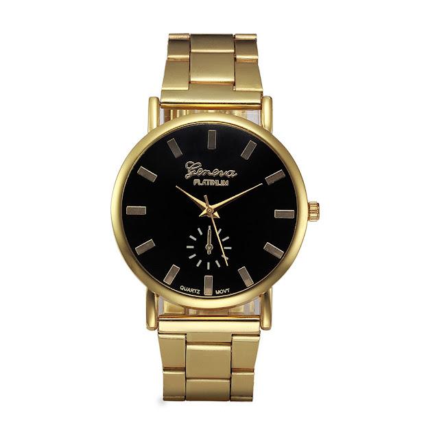 złoty zegarek Geneva Platinum zdjęcie z aukcji