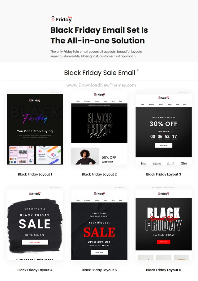 Responsive Email Template For Black Friday