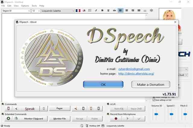 تنزيل برنامج دي سبيتش لتحويل الملفات النصية المكتوبة إلى ملفات صوتية مسموعة بجودة عالية الدقة مجانا