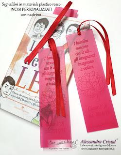 segnalibro inciso personalizzato regalo maestre