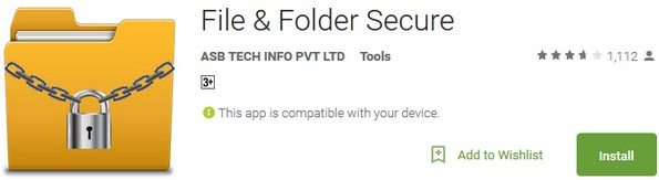 Android app for securing folder