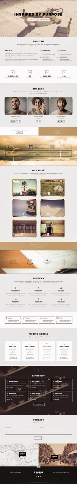 Premium One Page Responsive WordPress Theme