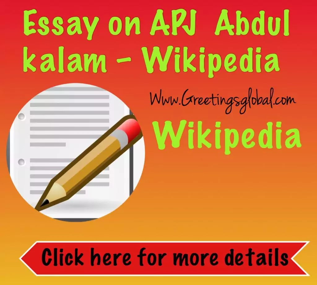 Essay on apj abdul kalam - Wikipedia
