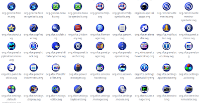Varios iconos con tema de escritorio claro
