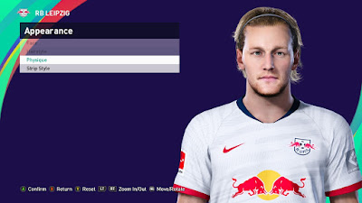 PES 2021 Faces Emil Forsberg by DavidJM08