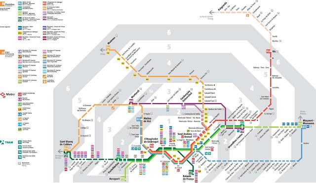 train map barcelona spain