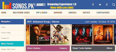 Songs.pk The Best Free Mp3 Download Website