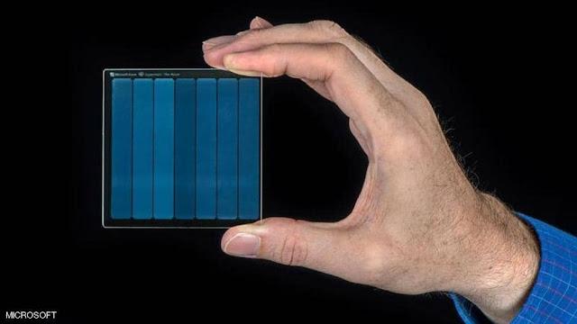 انتجة مايكروسوفت تقنية  التخزين المذهلة على الزجاج