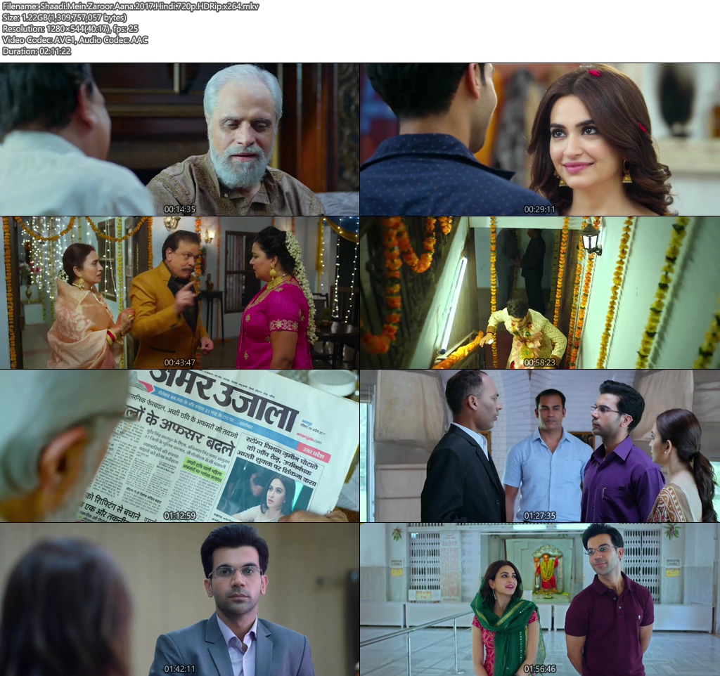 Shaadi Mein Zaroor Aana 2017 Hindi 720p HDRip x264 | 480p 300MB | 100MB HEVC Screenshot