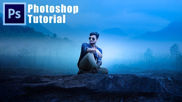 PHOTOSHOP MANIPULATION TUTORIAL WITH AWESOME BLUE AND NIGHT PHOTO EFFECTS