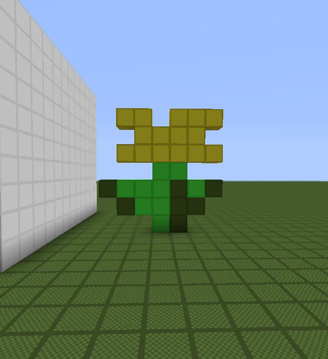 Pixel 4 Minecraft Pixel Art Helper: Minecraft Yellow Flower