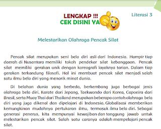 Kunci Jawaban Tematik Kelas 6 Tema 6 Literasi 3 Melestarikan Olahraga Pencak Silat www.simplenews.me