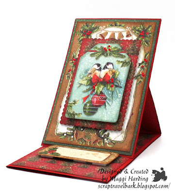 Easel Card Tutorial Stamperia Christmas