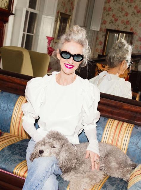 Linda Rodin and her dog Winks