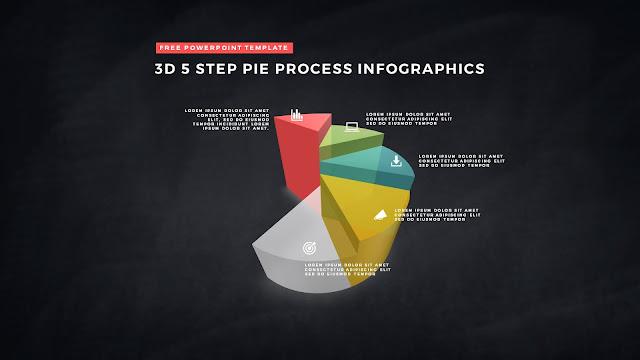3D Pie Chart Design Elements for PowerPoint Templates Slide 9