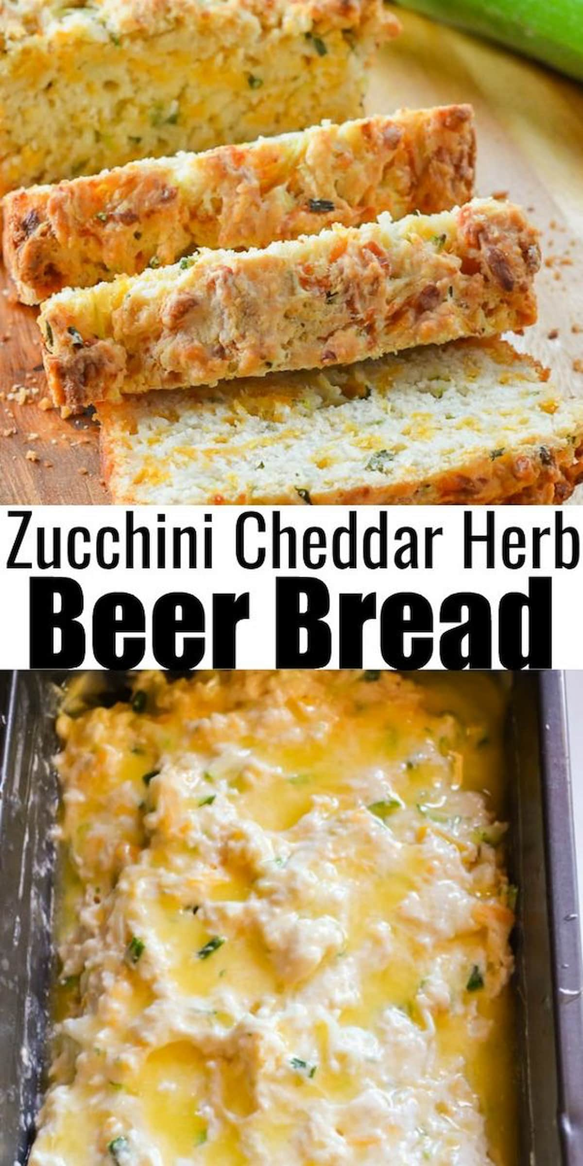 Zucchini Cheddar Cheese Beer Bread