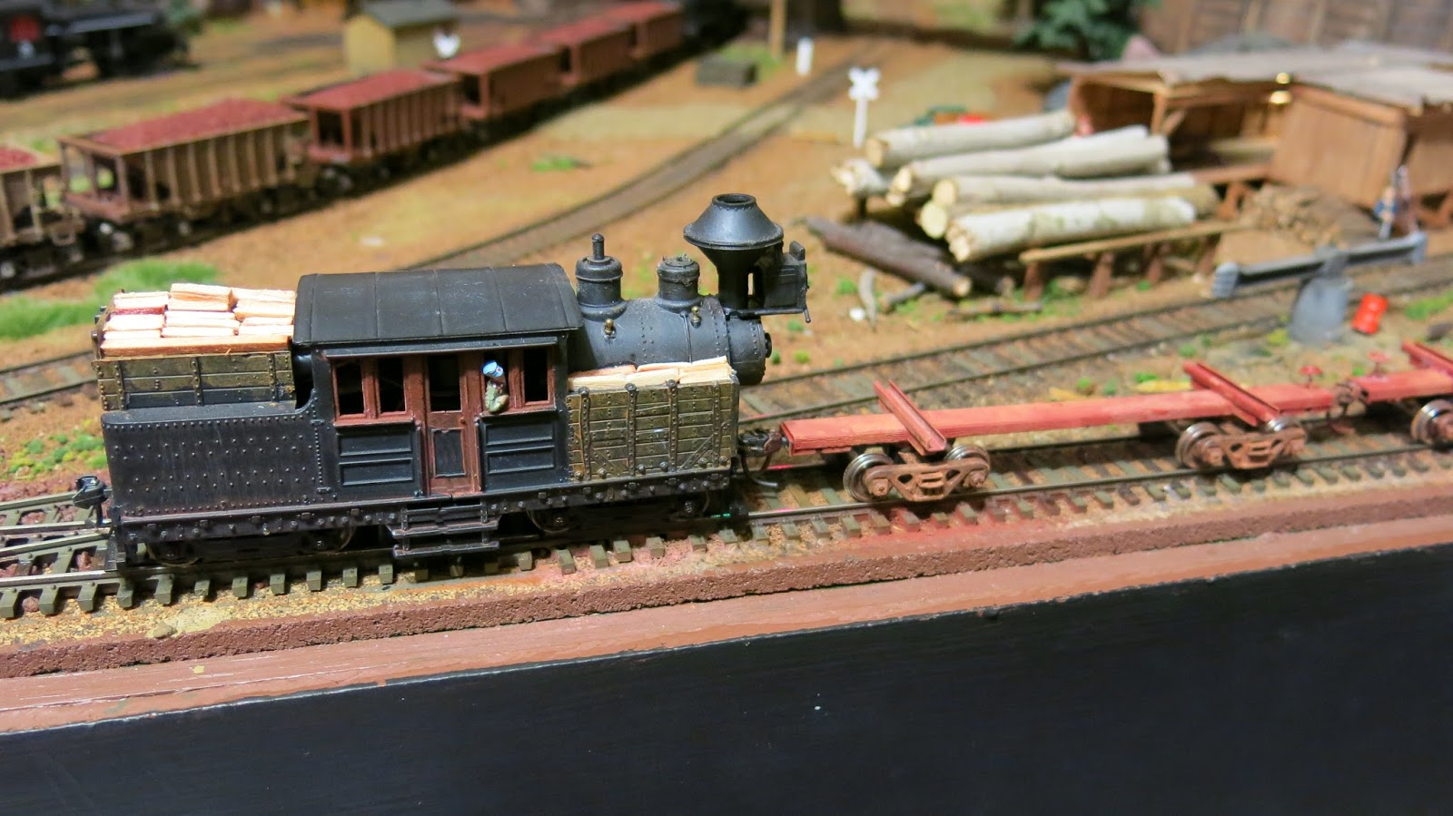 geared steam painting and weathering some new to me brass log cars