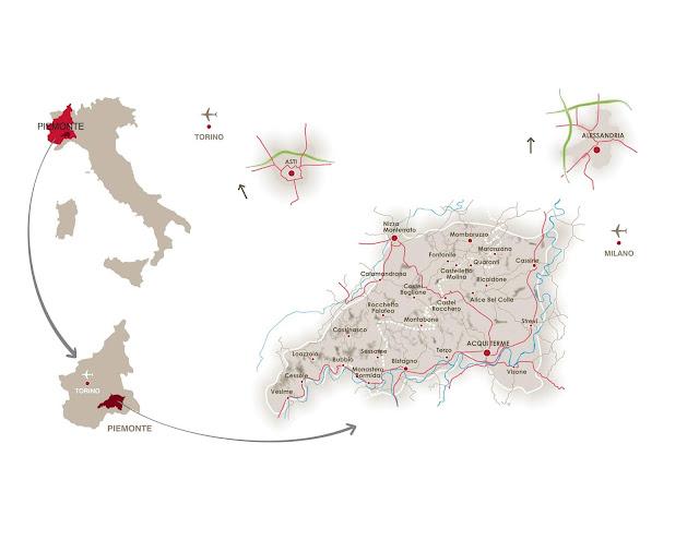Map of Brachetto d'Acqui wine area