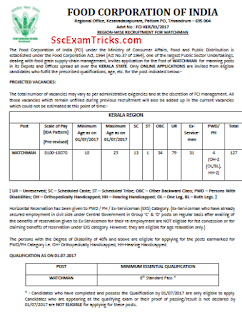 FCI Recruitment notice