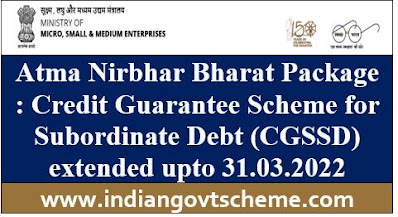 Credit Guarantee Scheme for Subordinate Debt