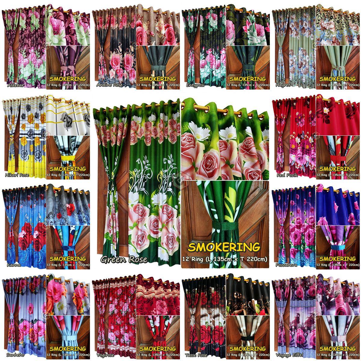 Koleksi Gorden Motif Mawar Mewah Gorden Indonesia