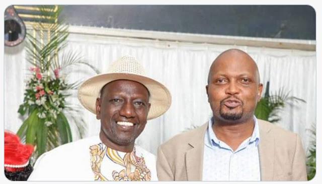 MP Moses Kuria with DP William Ruto photo
