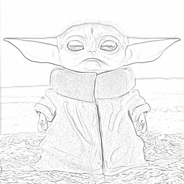 coloring pages baby yoda coloring pages free and downloadable
