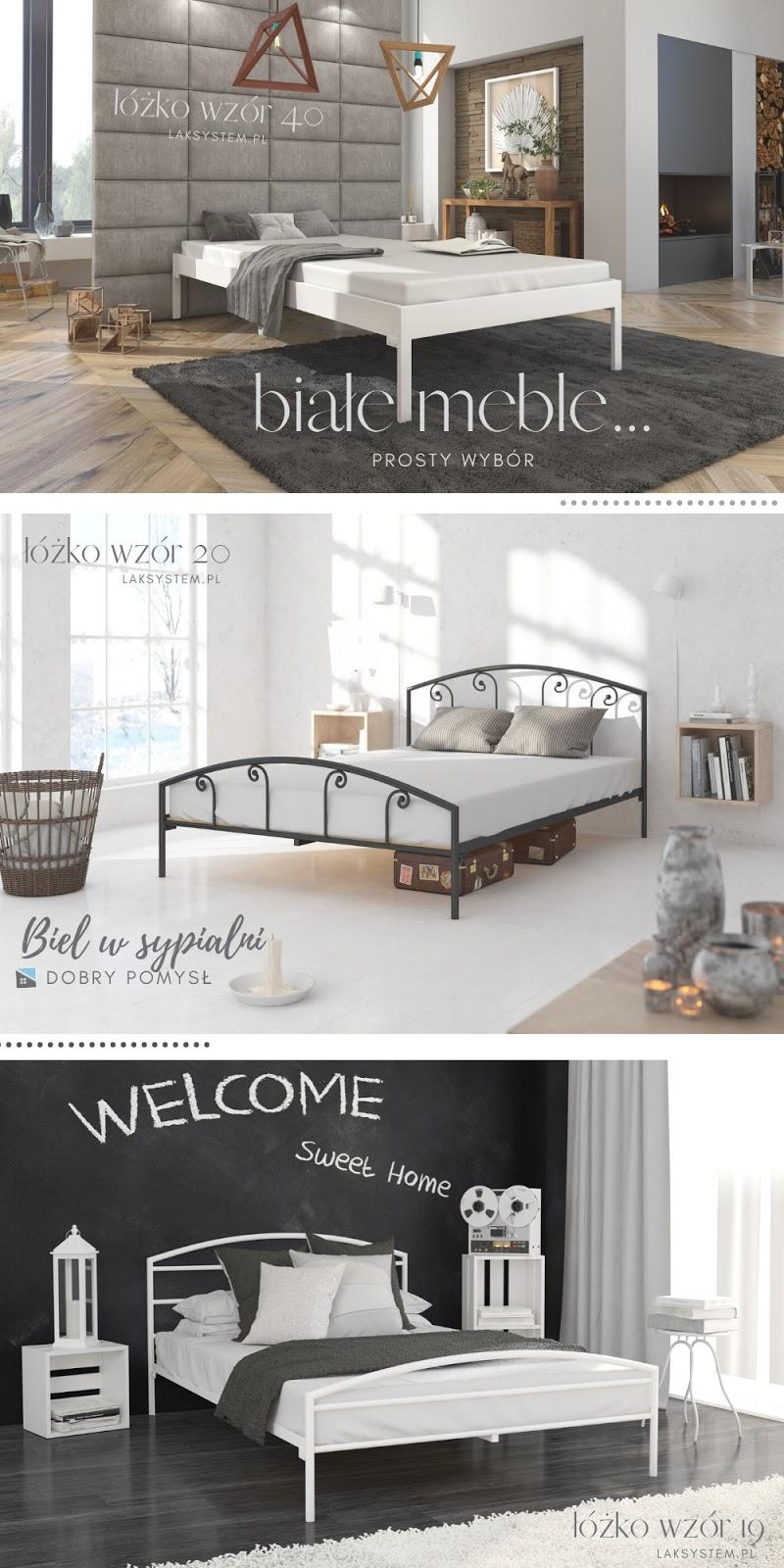 biel w sypialni - inspiracje