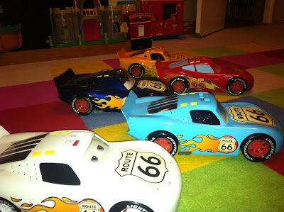 Custom made Pixar Lightening McQueen cars
