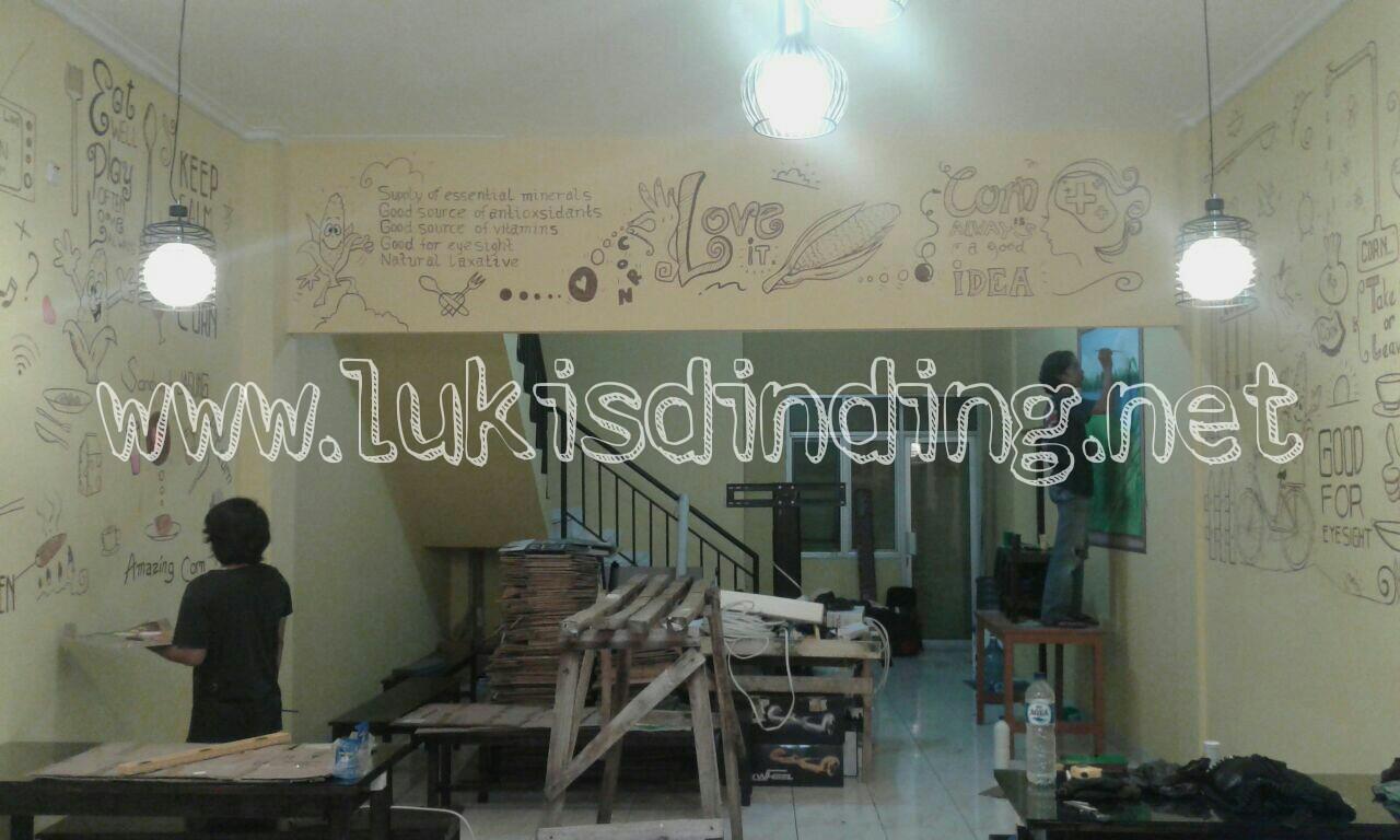 Lukis Tembok Cafe  Lukisan Mural Cafe  Lukisan Dinding