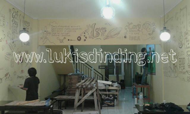 andy mural   lukisan cafe