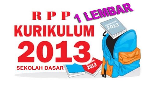 Download RPP 1 Lembar Lengkap
