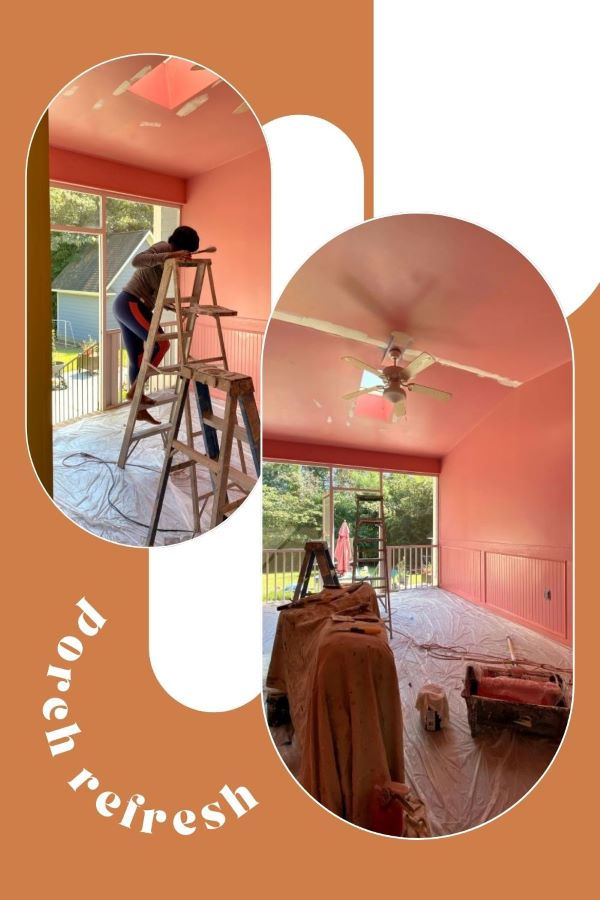Our Porch Refresh: The Power Of Paint-painting process-designaddictmom